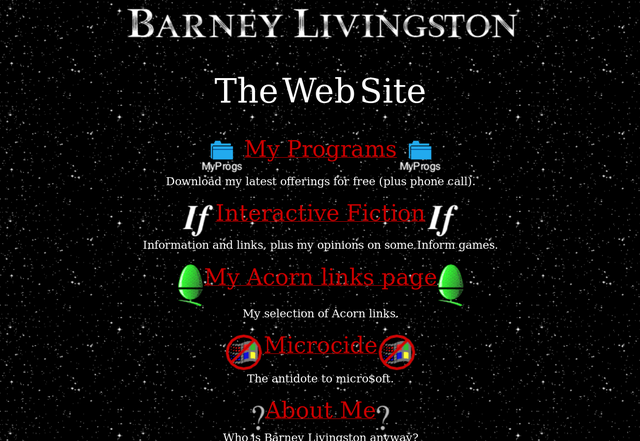 My first website, from 1997 to 1999 or so