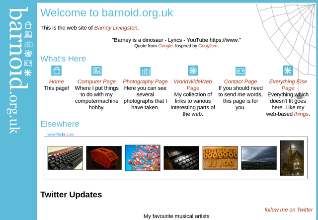 The first barnoid.org.uk, from 2003 to 2010