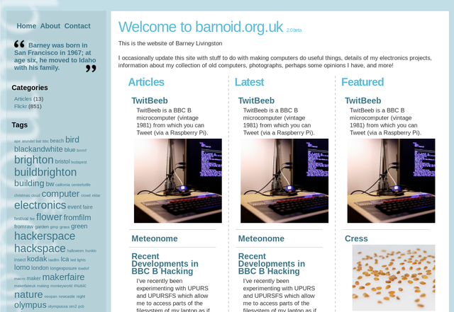 barnoid.org.uk 2.0 beta, from 2010 to 2018